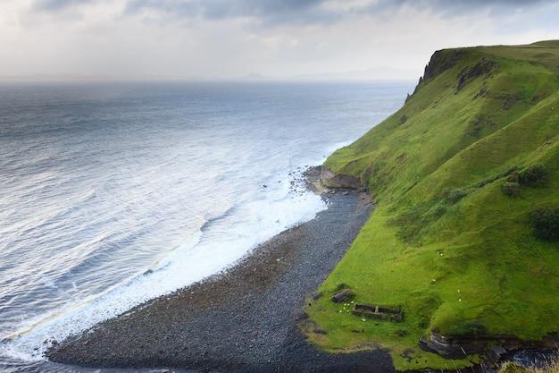 Piękna szkocka panorama z regionu highland. cel podróży szkocji