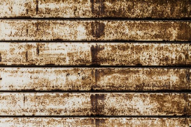 Piękna tekstura grunge rusty stripes wall. poziomy. wzór. rusty tle.