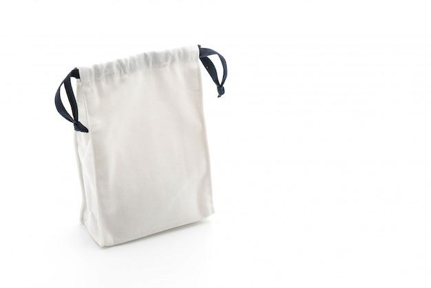 Piękna torba z tkaniny na białym tle