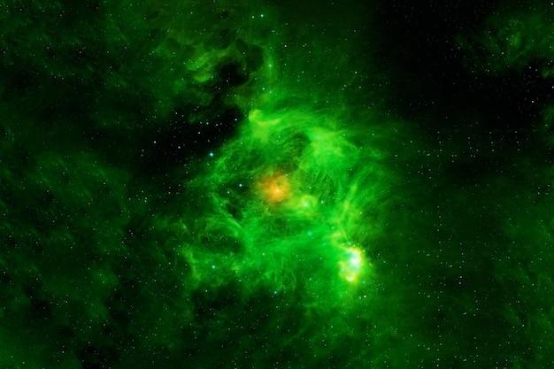 Piękna zielona galaktyka elementy tego zdjęcia dostarczone przez nasa. zdjęcie wysokiej jakości