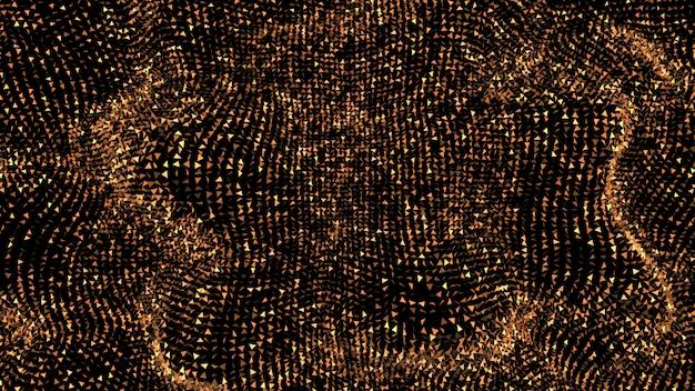 Piękne czarne tło z złotym brokatem. 3d ilustracji
