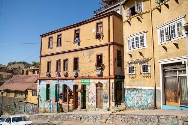 Piękne domy na ulicy valparaiso