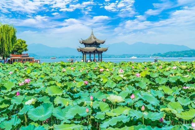 Piękne jeziora w hangzhou, west lake