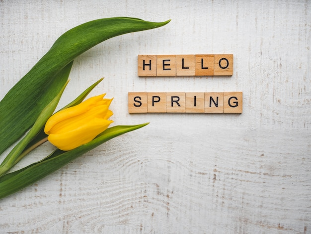 Piękne kartki z napisem wiosna