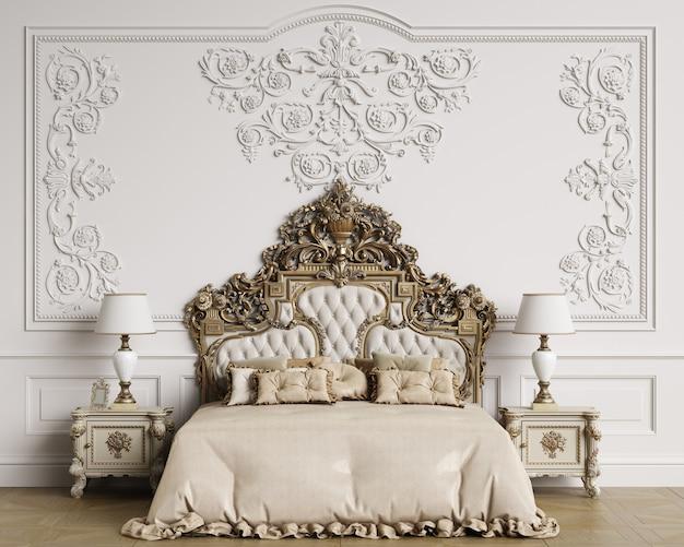 Piękne klasyczne wnętrze sypialni