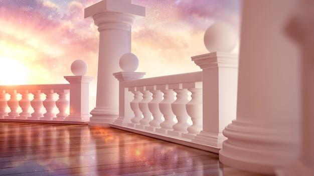 Piękne, klasyczne wnętrze z tarasem