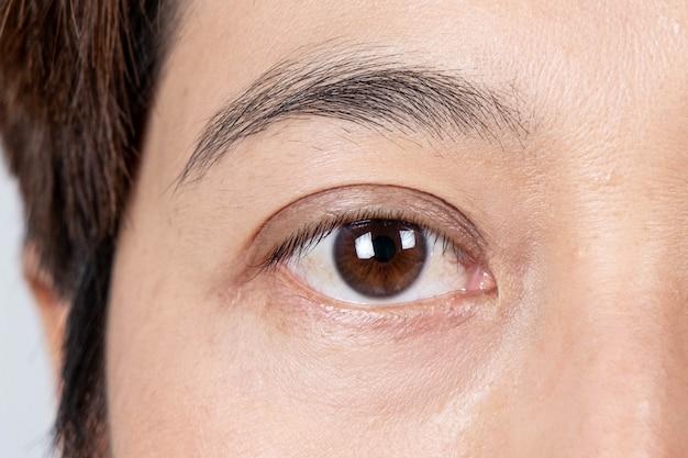 Piękne kobiece oczy z bliska
