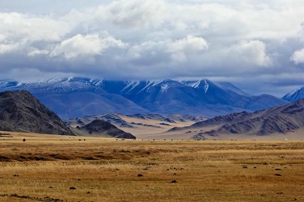 Piękne krajobrazy mongolskiej dzikiej przyrody i krajobrazu