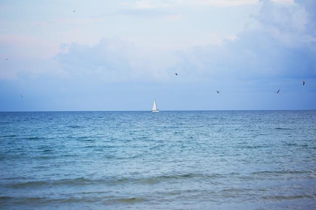 Piękne morze i piaszczyste plaże. bułgaria, nesebyr