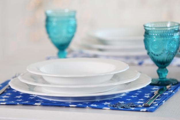 Piękne nakrycie stołu
