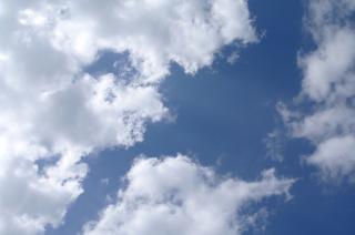 Piękne niebo, niebieskie, niebo