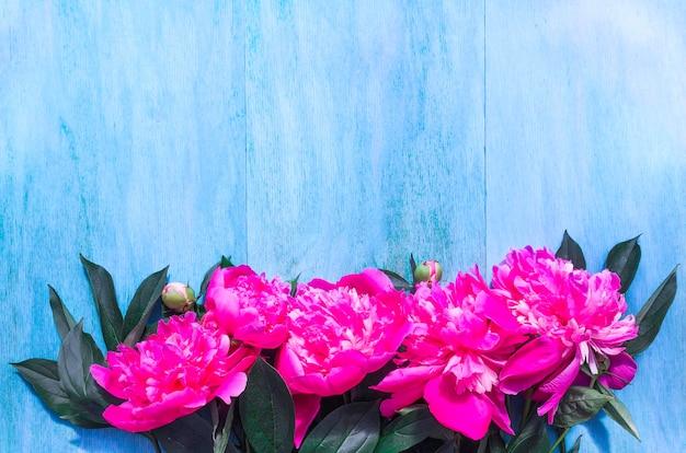 Piękne piones na niebieskim tle. skopiuj miejsce