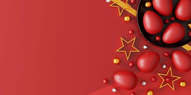 Piękne pisanki na czerwono