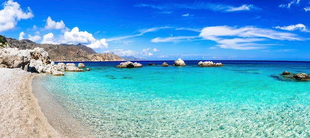 Piękne plaże wysp greckich - apella na wyspie karpathos, dodekanez