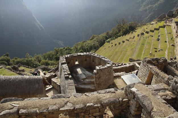Piękne ruiny machu picchu. peru