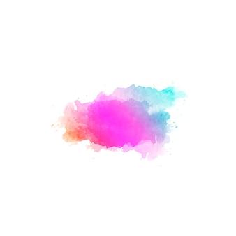 Piękne streszczenie tło ręcznie rysowane plamy koloru wody