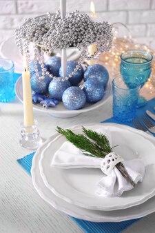 Piękne świąteczne nakrycie stołu