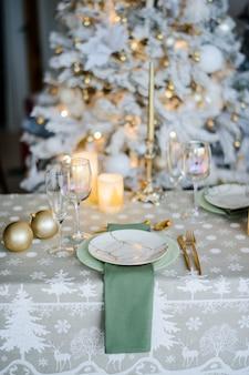 Piękne świąteczne otoczenie, z bliska