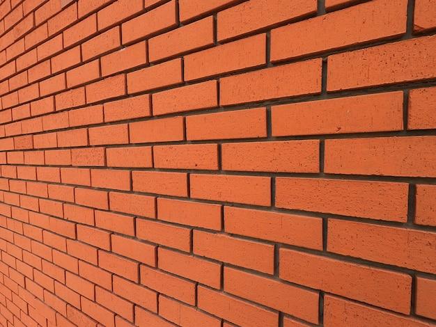 Piękne tło ściany z czerwonej cegły