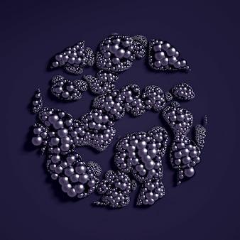 Piękne tło z kulkami, nauka, cząsteczka, atom. ilustracja, renderowanie 3d.