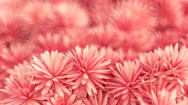 Piękne tło z kwiatami renderowania 3d ilustracji