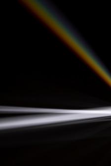 Piękne ugięcie światła przez pryzmat