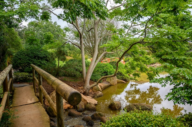 Piękne ujęcie parku publicznego w toowoomba, queensland w australii