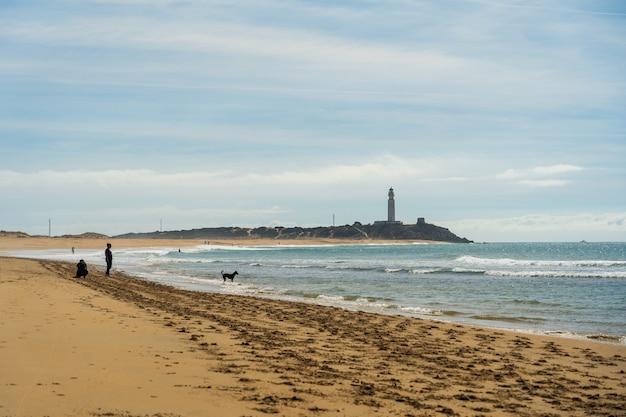 Piękne ujęcie piaszczystej plaży w hiszpanii zahora