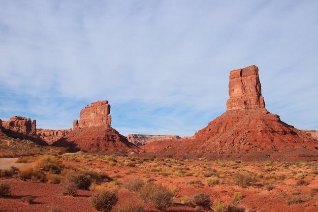 Piękne ujęcie valley of the gods valley w stanie utah w usa