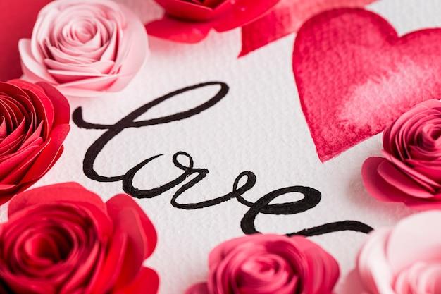 Piękne walentynki koncepcja z różami