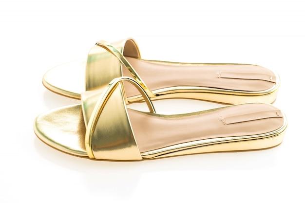 Piękne złote sandały