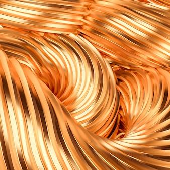 Piękne złote tło. renderowania 3d.
