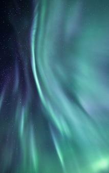 Piękne zorze polarne islandii