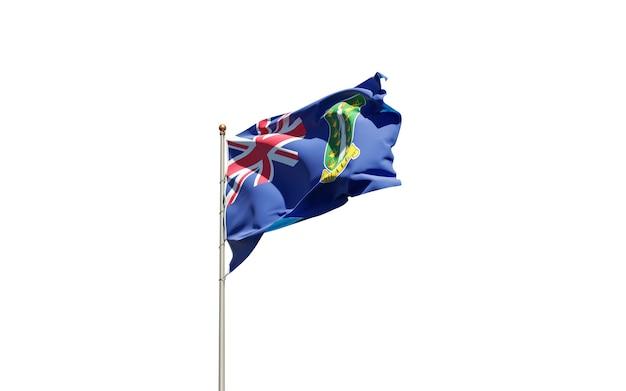 Pięknej flagi państwowej brytyjskich wysp dziewiczych na białym tle.