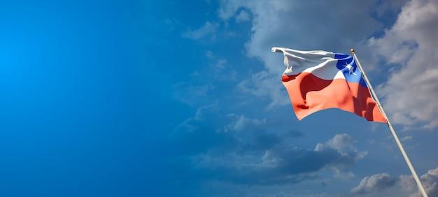 Pięknej flagi państwowej chile z pustej przestrzeni.