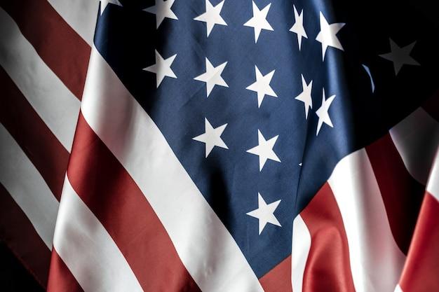 Pięknie machająca gwiazda i paski amerykańska flaga