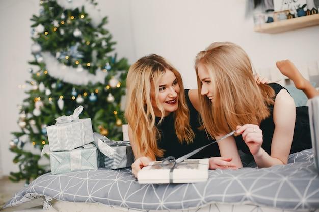 Piękno świąteczne dziewczyny