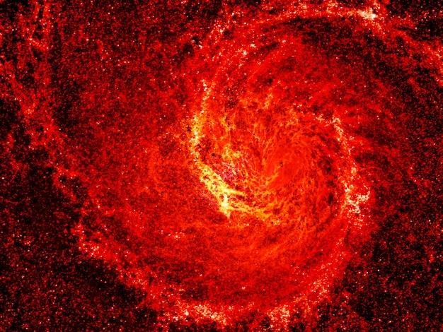 Piękny abstrakcjonistyczny czerwony galaxy tło