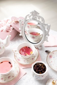 Piękny asortyment na herbatę