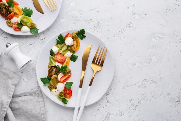 Piękny asortyment pysznych potraw