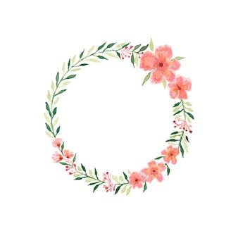 Piękny bukiet akwarela ślub z liści i kwiatów.