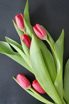 Piękny bukiet tulipanów