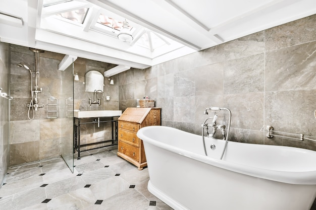 Piękny i elegancki wystrój łazienki