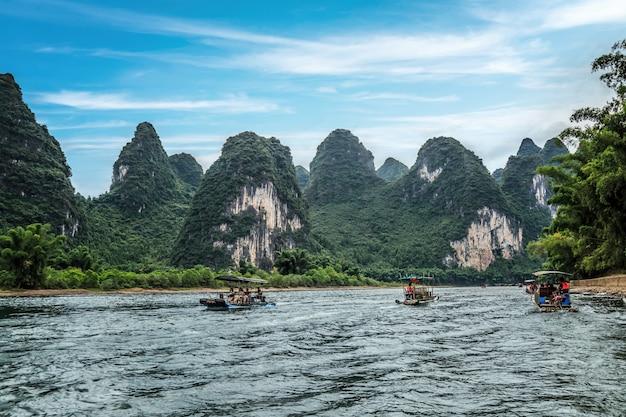 Piękny krajobraz guilin w chinach