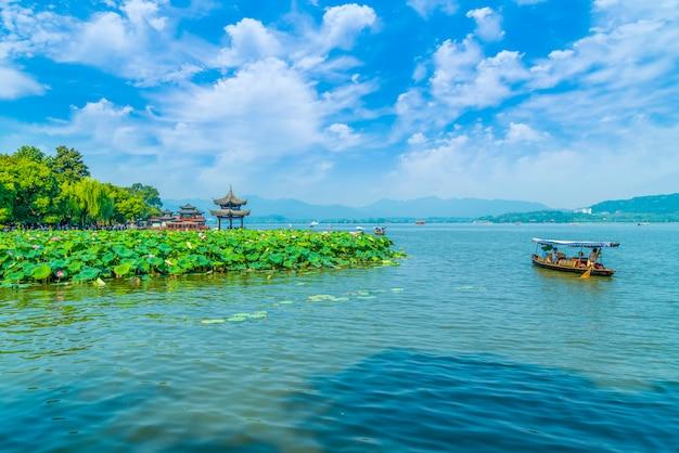 Piękny krajobraz hangzhou, zachodni jezioro