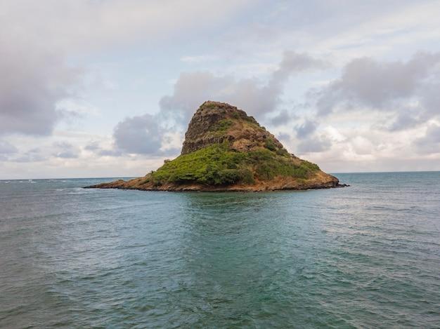 Piękny krajobraz hawajów z oceanem