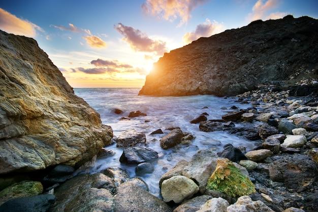Piękny krajobraz morski.