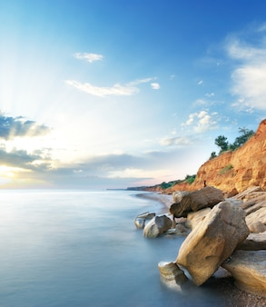 Piękny krajobraz morski