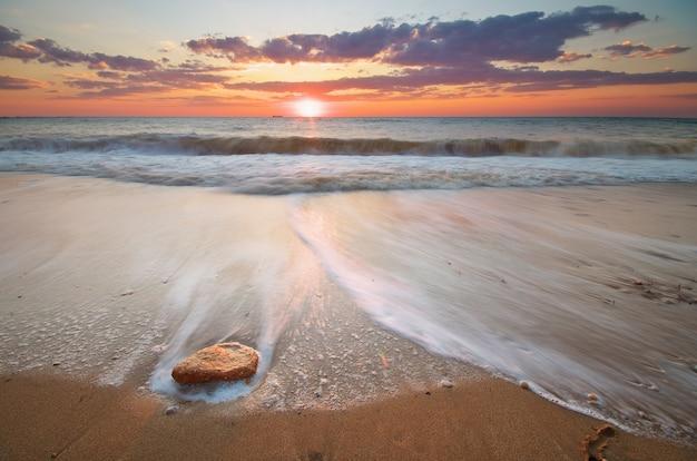 Piękny krajobraz na plaży kompozycja natury