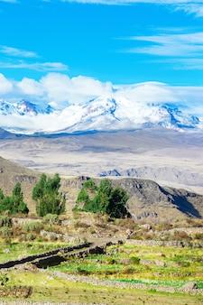 Piękny krajobraz w andach w peru